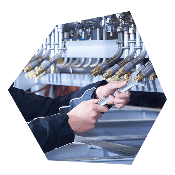Wartung und Prüfung einer Druckluft Anlage mit Filter