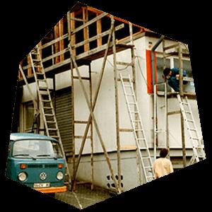 Umbau des Firmengebäudes 1984