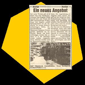 Eröffnung in Wittenberg 1993