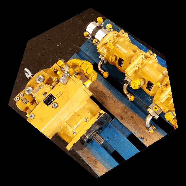 Motoren von Hydraulikpumpen. Auch Reparatur ist bei Gustav Schmidt möglich