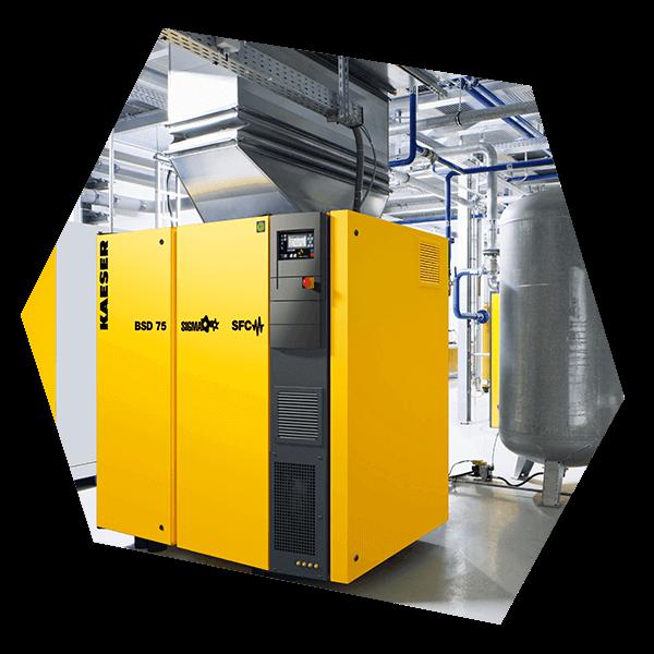 Die Druckluft Kompressoren wie die Kaeser Druckluftstation sorgen für immer genug Druckluft