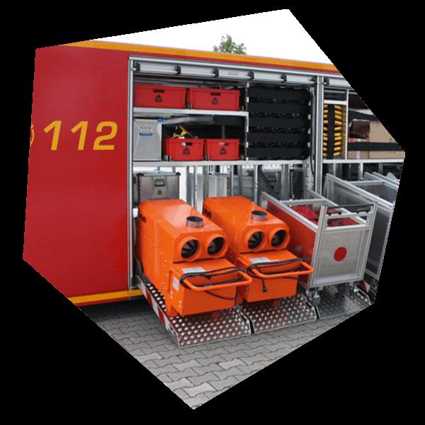 Heizgerät für Feuerwehr oder Rettungsdienst