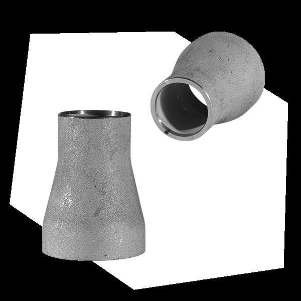 Eine Art von Rohr Fitting: ein konzentrisches Reduzierstück, das enger zuläuft und dien Durchmesser des Rohrs verringert